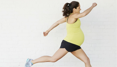 Gezond eten en bewegen bevordert natuurlijke bevalling